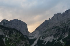 Massif de roche d'Ellmauer Images stock