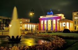 Massif de roche de Brandenburger à Berlin Image libre de droits