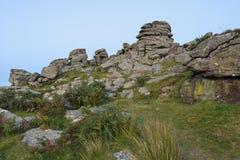 Massif de roche de chien après coucher du soleil Image libre de droits