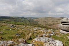 Massif de roche de Combestone, parc national de Dartmoor, Devon Photographie stock libre de droits