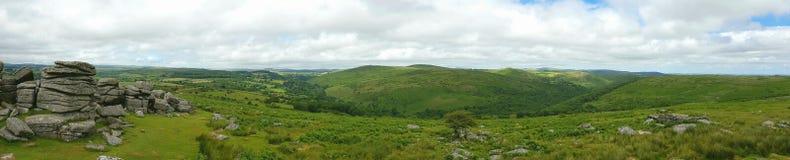 Massif de roche de Combestone, parc national de Dartmoor, Devon R-U Photo libre de droits