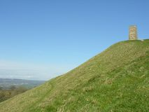 Massif de roche de Glastonbury Images libres de droits