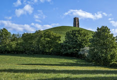 Massif de roche de Glastonbury Photos libres de droits