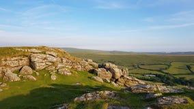 Massif de roche de Sheepstor, parc national de Dartmoor devon LE R-U Images libres de droits