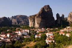 Massif of Meteora Royalty Free Stock Photo