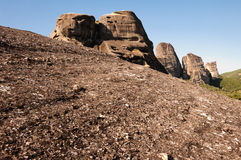 Massif of Meteora Royalty Free Stock Photos