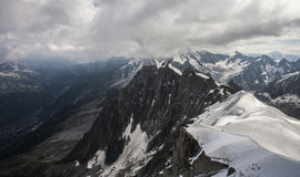 The massif of Mont Blanc Stock Photos