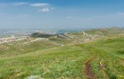 Massif montagneux de Chatyr-Dah en Crimée, Ukraine photographie stock