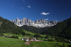 Massif odle in dolomites Italy royalty free stock images