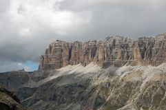 Massif Sella in Italian Dolomites. Royalty Free Stock Images