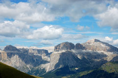 Massif Sella in Italian Dolomites. Stock Images