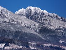 Massifs of High Tatras in winter stock photography