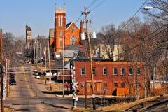 Massillon, Ohio. Small Rust Belt city of Massillon, Ohio - near Canton stock image