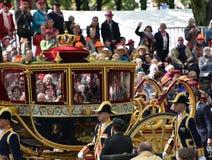 Massimi in trasporto dorato su Prinsjesdag Immagine Stock Libera da Diritti