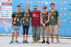 Massimiliano Bruno al Giffoni Film Festival 2015 Foto de archivo libre de regalías