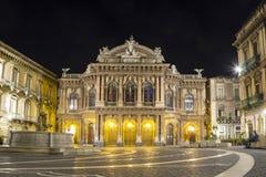 Massimo Bellini teatr, Catania, Włochy obrazy stock