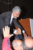 Massimo D'Alema with fans Royalty Free Stock Images