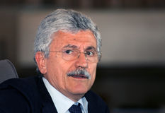Massimo d'alema,italy. Massimo D' Alema is an Italian politician and journalist, said  Er Coatto  , former President of the Council of Ministers from 21 October Stock Photography