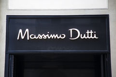 Massimo Dutti shop Royalty Free Stock Images