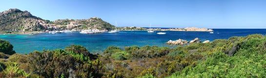 Massimo port Maddalena Sardinia island overview. Overview of Porto Massimo on the island of La Maddalena in Sardinia, Italy Royalty Free Stock Photo