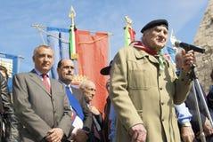 Massimo Rendina, presidente de ANPI Fotos de Stock Royalty Free