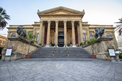 Massimo theater Palermo. Sicily island, Italy Stock Images