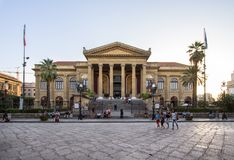 Massimo theater Palermo. Sicily island, Italy Stock Image