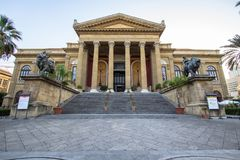 Massimo theater Palermo. Sicily island, Italy Royalty Free Stock Photography