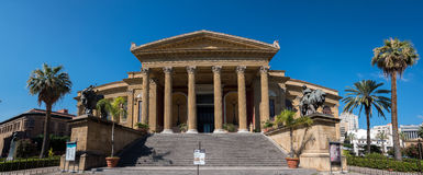 Massimo Theater in Palermo, Sicily Royalty Free Stock Photography