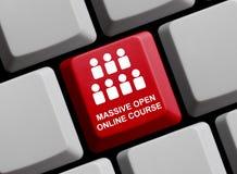 Massiv öppen online-kurs arkivfoton