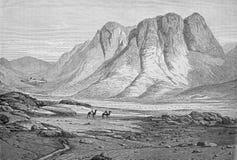Massiv av Sinaien, luckahelgedom Catherine Royaltyfri Fotografi