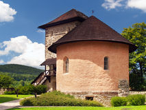 Massiv bastion och befästning av slottet av Arkivbild