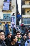 Massiv demonstration, Kairo, Egypten Arkivbilder