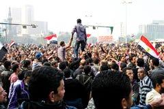 Massiv demonstration, Kairo, Egypten Arkivfoton