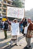 Massiv demonstration, Kairo, Egypten Royaltyfri Bild