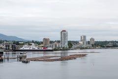 Massiv färja i Nanaimo Fotografering för Bildbyråer