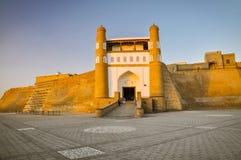 Massiv fästning i Bukhara arkivfoton