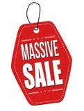 Massiv försäljningsläderetikett eller prislapp Arkivfoto