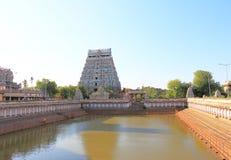 Massiv komplex chidambaram Tamil Nadu Indien för forntida tempel Royaltyfri Foto
