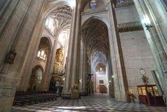 Massiv Segovia domkyrka royaltyfria bilder