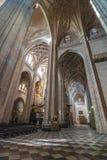 Massiv Segovia domkyrka royaltyfri fotografi