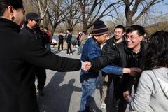 Massiva kinesiska singlar som möter i Beijing Kina Royaltyfri Bild