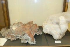 Massiva kvartskristaller Arkivfoton