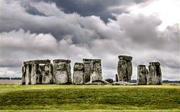 Massiva monoliter på Stonehenge royaltyfria bilder