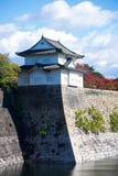 Massiva stenväggar av Osaka Castle, Osaka Arkivbild