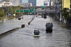 Massive Überschwemmung in Bangkok. Thailand Lizenzfreies Stockbild