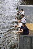 Massive Überschwemmung in Bangkok. Thailand Stockfotos