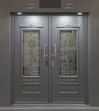 Massive Aluminum Door Royalty Free Stock Image