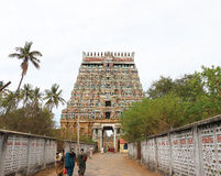 Massive ancient temple complex chidambaram tamil nadu india Stock Photography