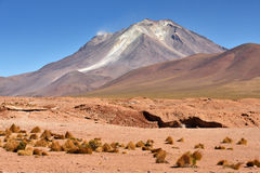 Massive andesite stratovolcano in the Andes Stock Photos